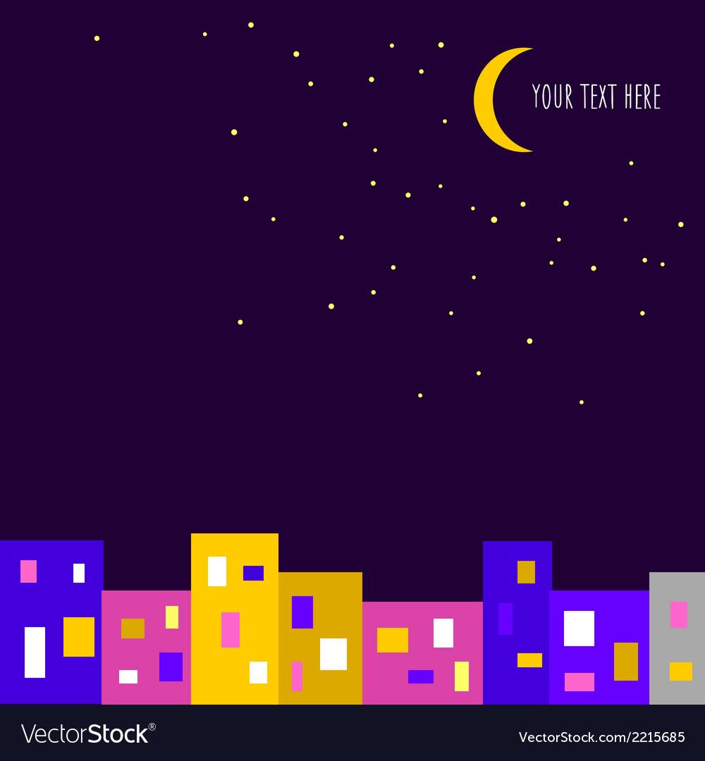 Night city background vector   Price: 1 Credit (USD $1)