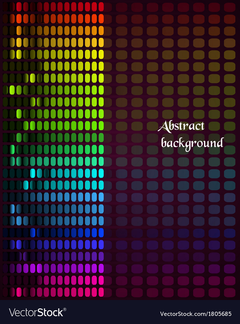 Rainbow equalizer on dark background vector | Price: 1 Credit (USD $1)