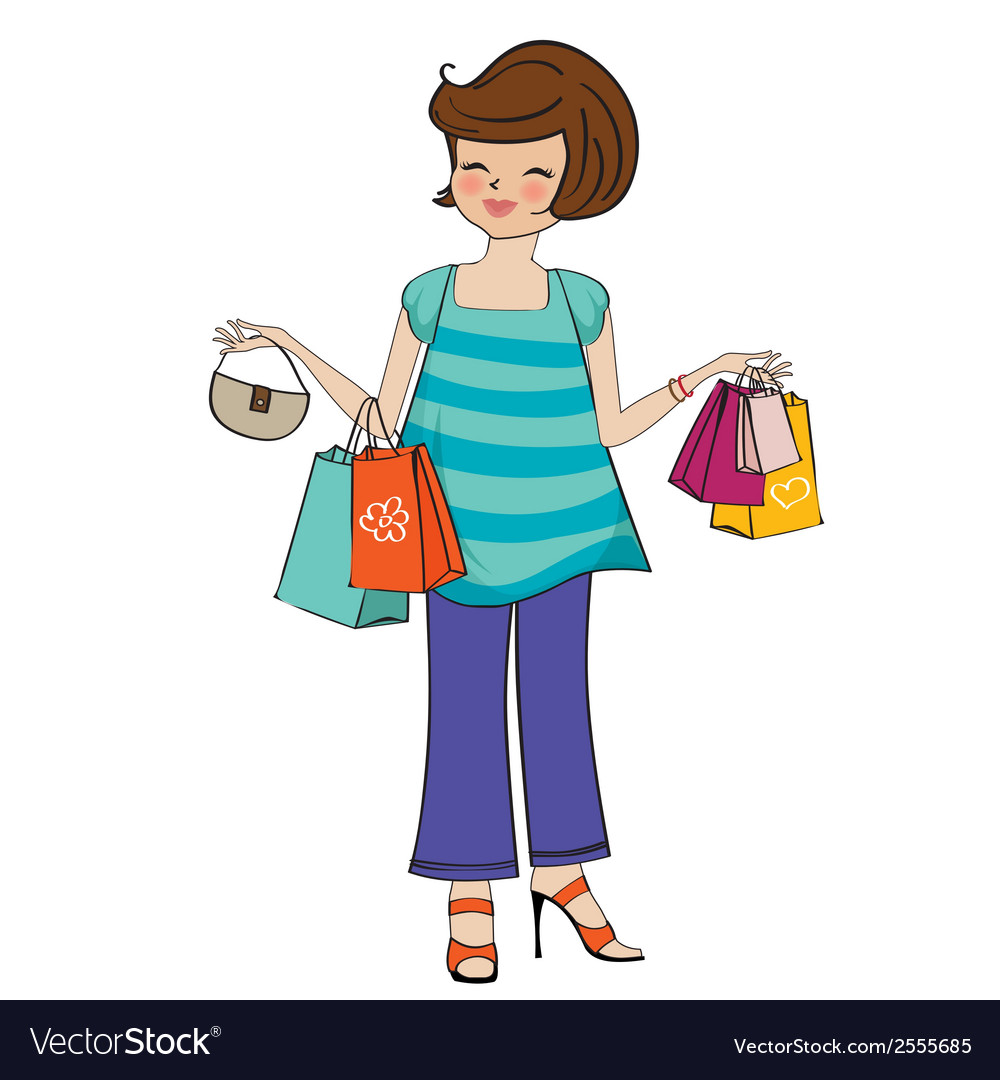 Woman at shopping vector | Price: 1 Credit (USD $1)