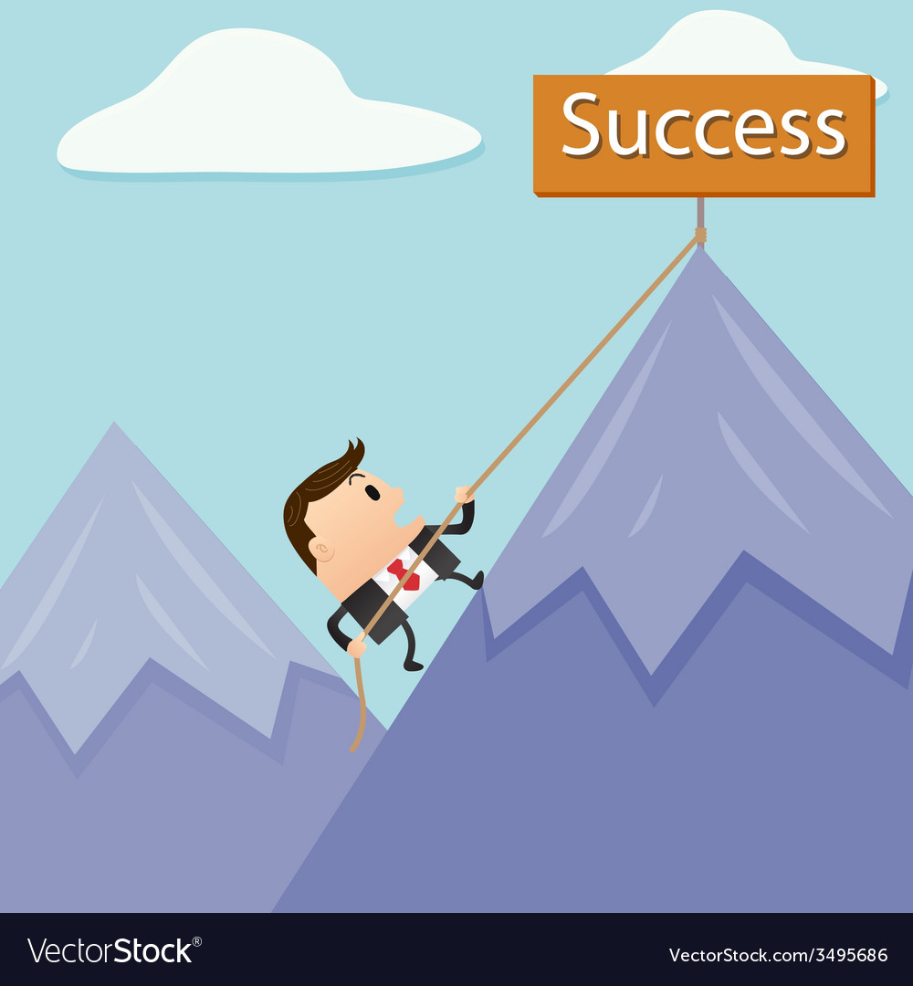 Business mountain success vector | Price: 1 Credit (USD $1)