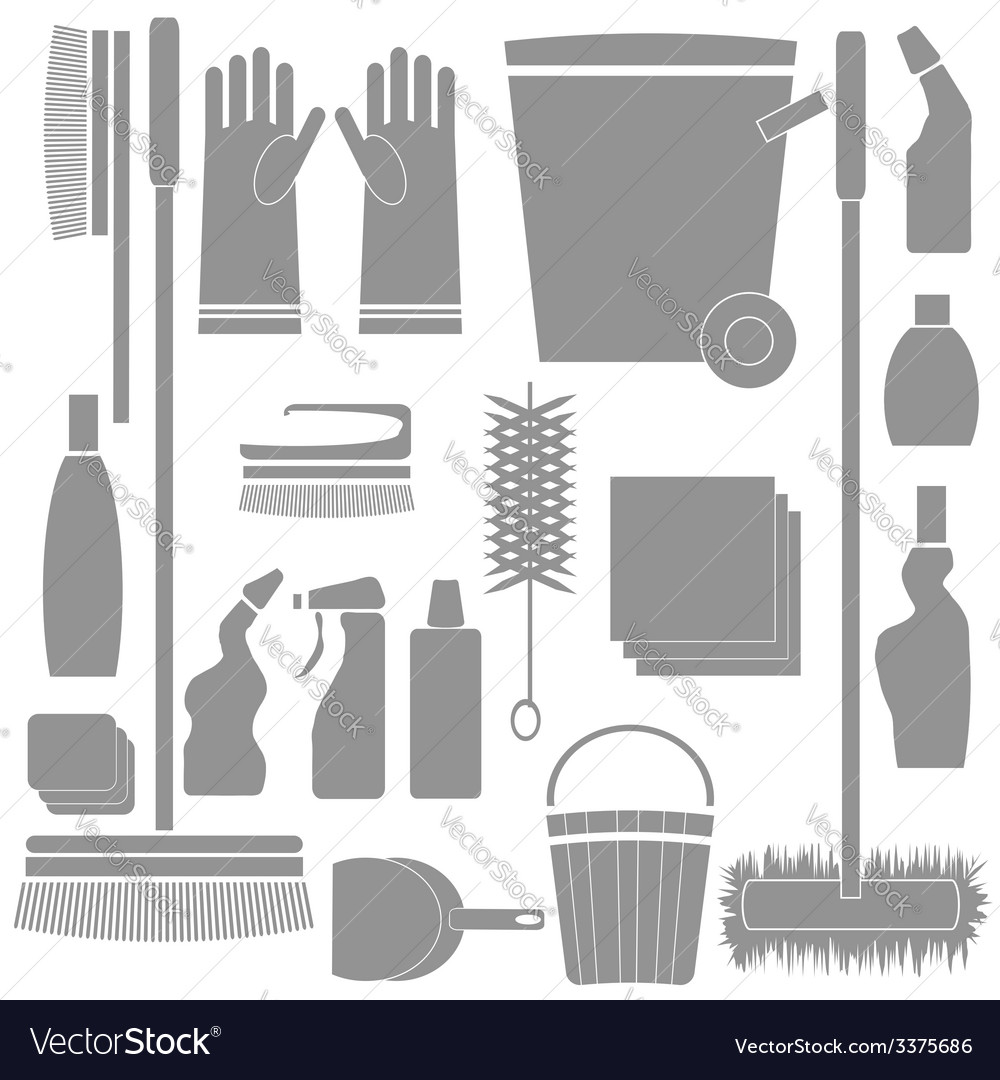 Cleaning tools vector   Price: 1 Credit (USD $1)