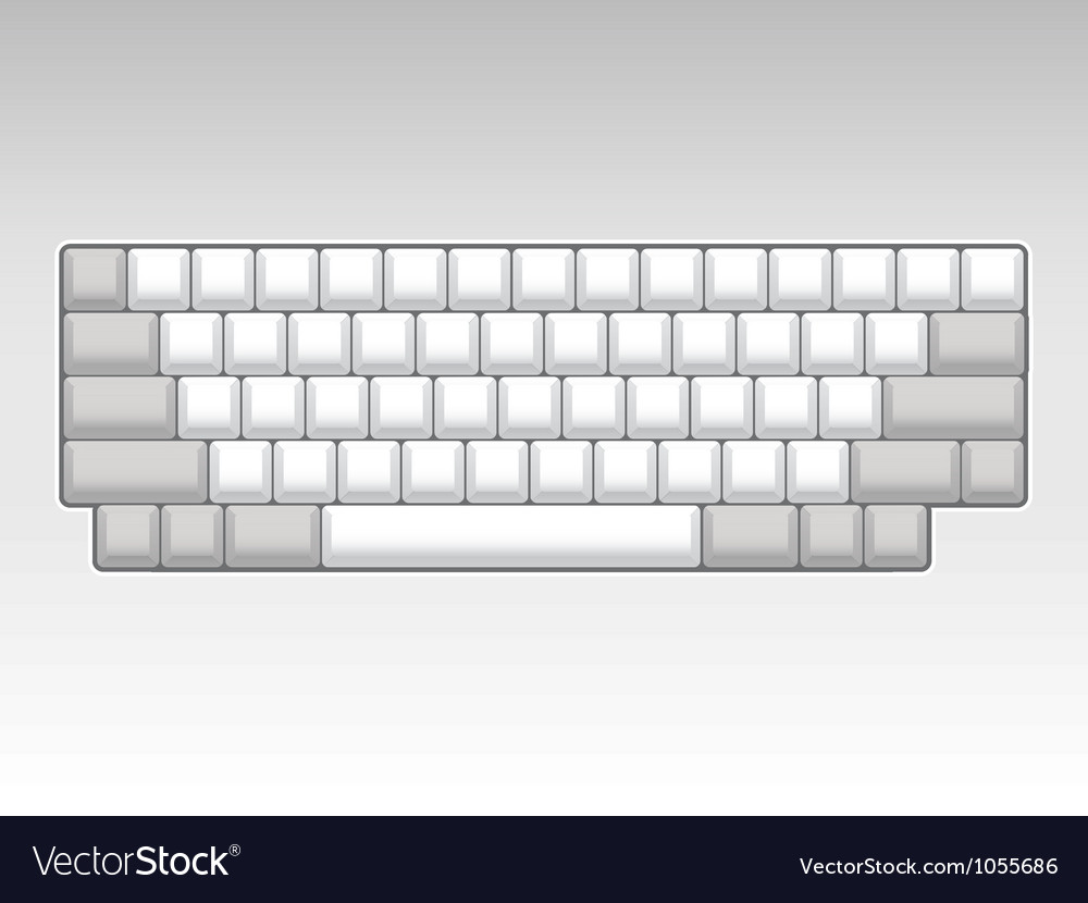 Computer keyboard vector | Price: 1 Credit (USD $1)
