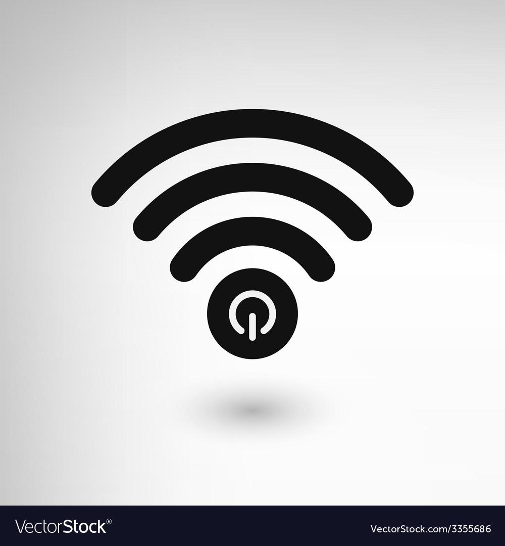 Creative wifi power vector | Price: 1 Credit (USD $1)