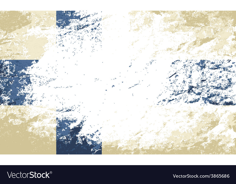 Finnish flag grunge background vector | Price: 1 Credit (USD $1)