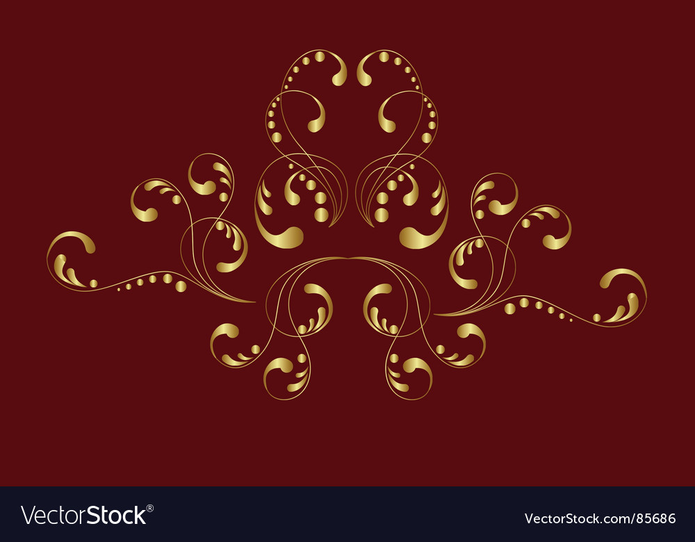 Gold ornament vector | Price: 1 Credit (USD $1)