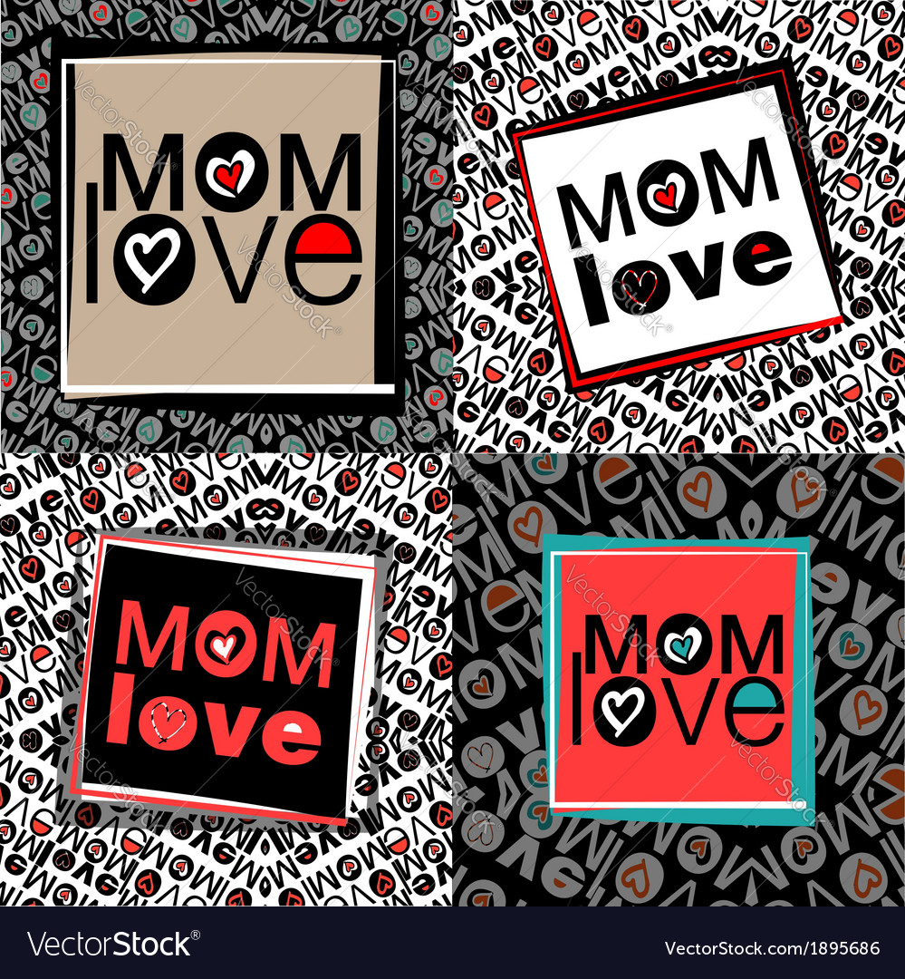 Mom love pattern vector | Price: 1 Credit (USD $1)