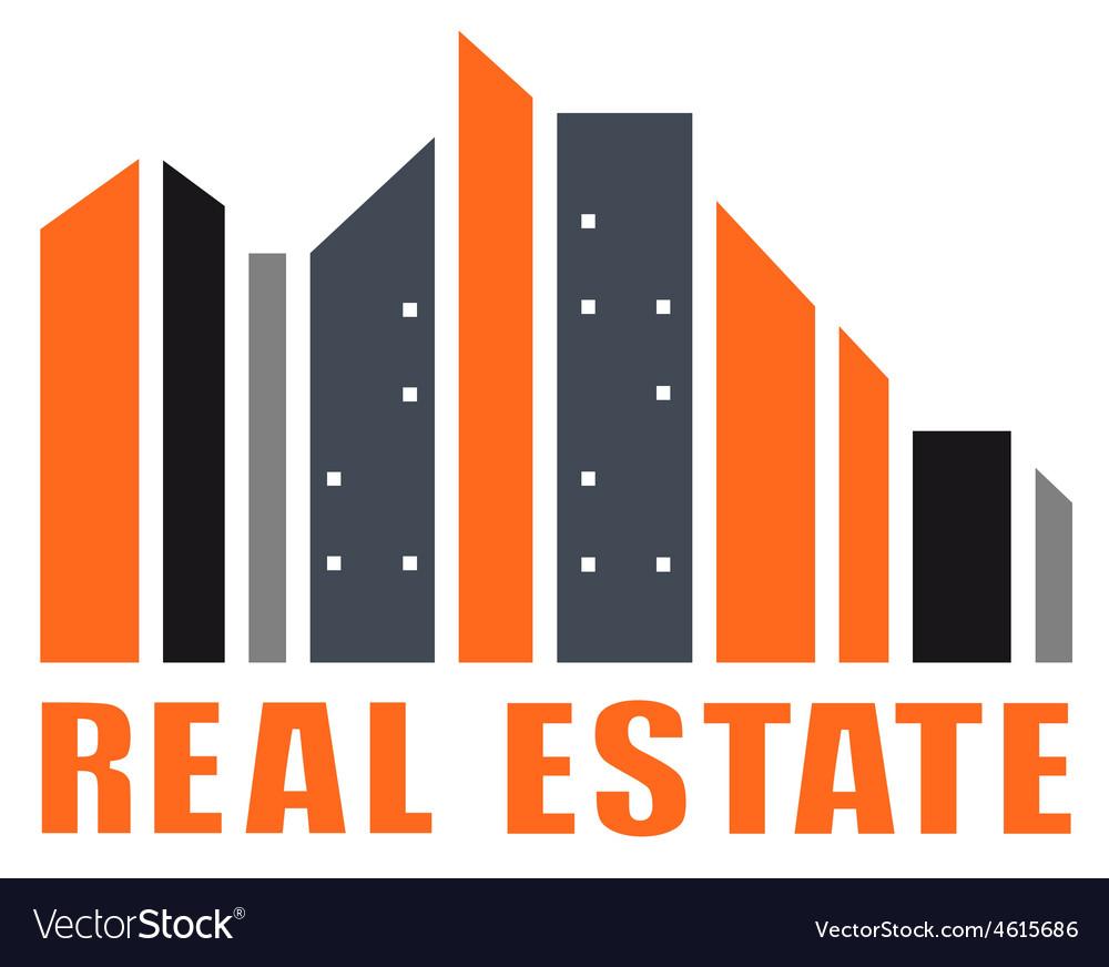Real estate symbol with many skyscraper vector   Price: 1 Credit (USD $1)
