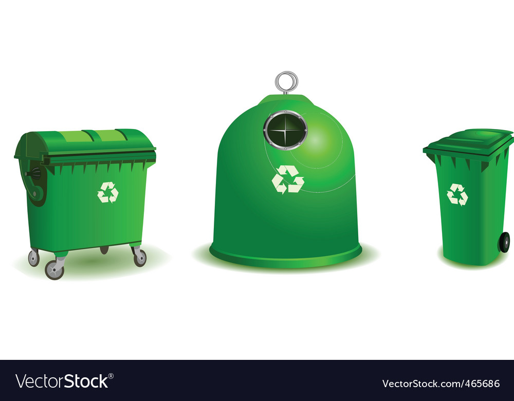 Recycle bins vector | Price: 1 Credit (USD $1)