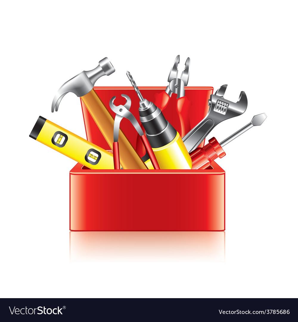 Tools box isolated vector | Price: 3 Credit (USD $3)