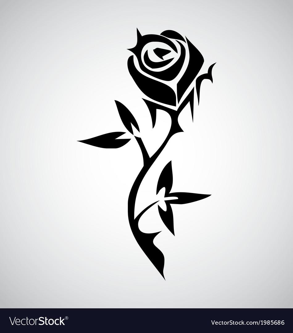 Tribal rose tattoo vector | Price: 1 Credit (USD $1)