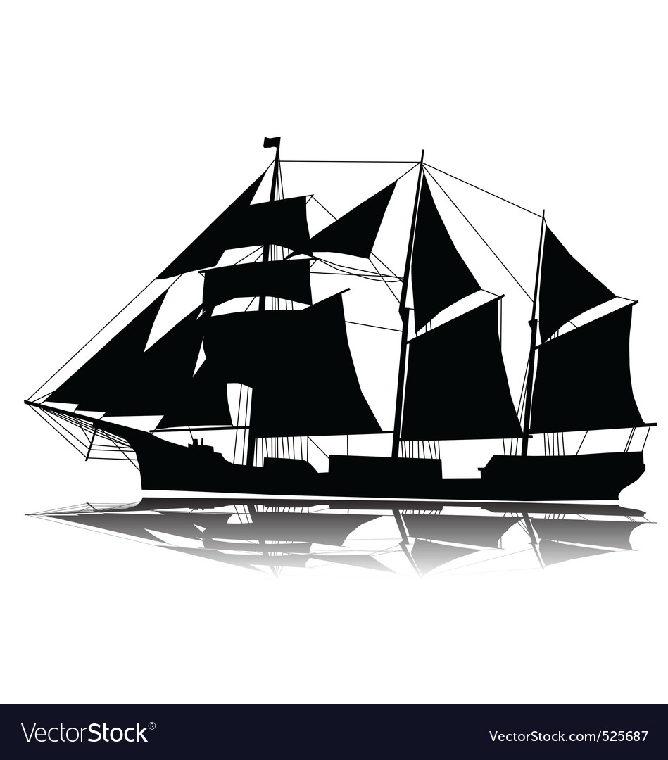 A large sailing ship vector | Price: 1 Credit (USD $1)