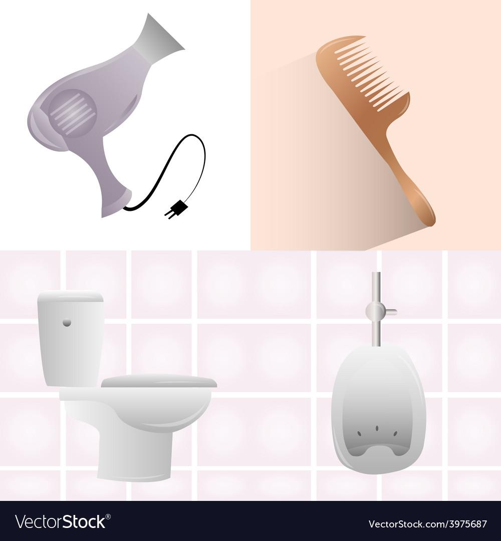 Bathroom elements vector | Price: 1 Credit (USD $1)