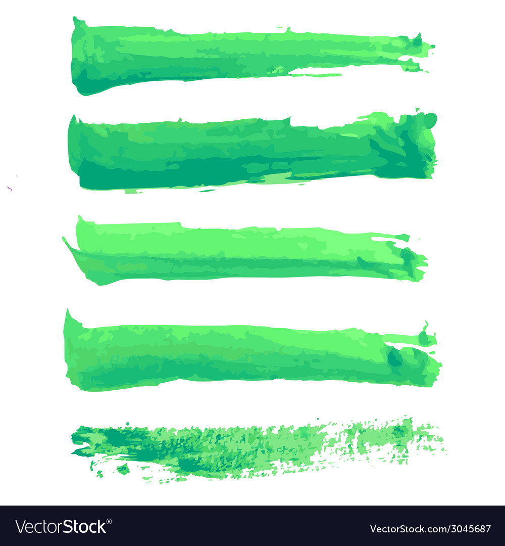 Colorful watercolor brush strokes vector | Price: 1 Credit (USD $1)