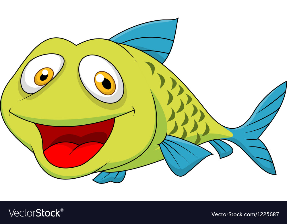 Cute fish cartoon vector | Price: 3 Credit (USD $3)