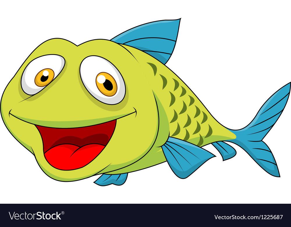 Cute fish cartoon vector | Price: 3 Credit (USD $3)