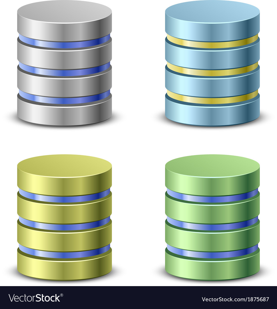 Database icons vector   Price: 1 Credit (USD $1)