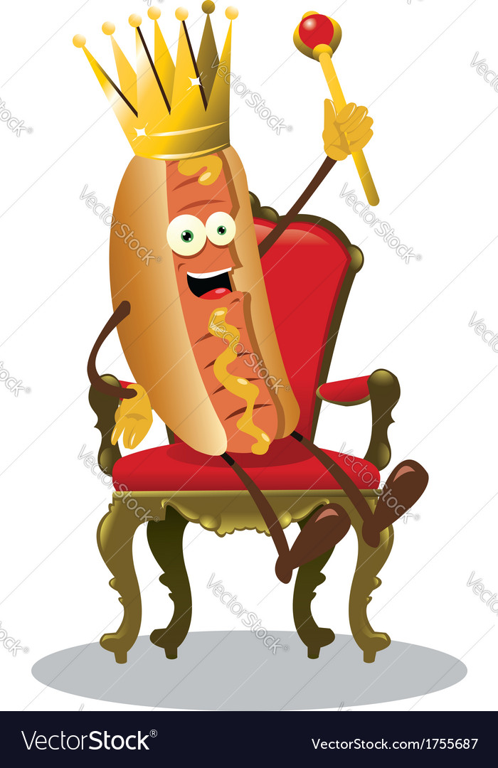 King hot dog vector | Price: 1 Credit (USD $1)