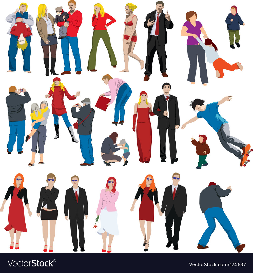 People illustrations vector | Price: 1 Credit (USD $1)