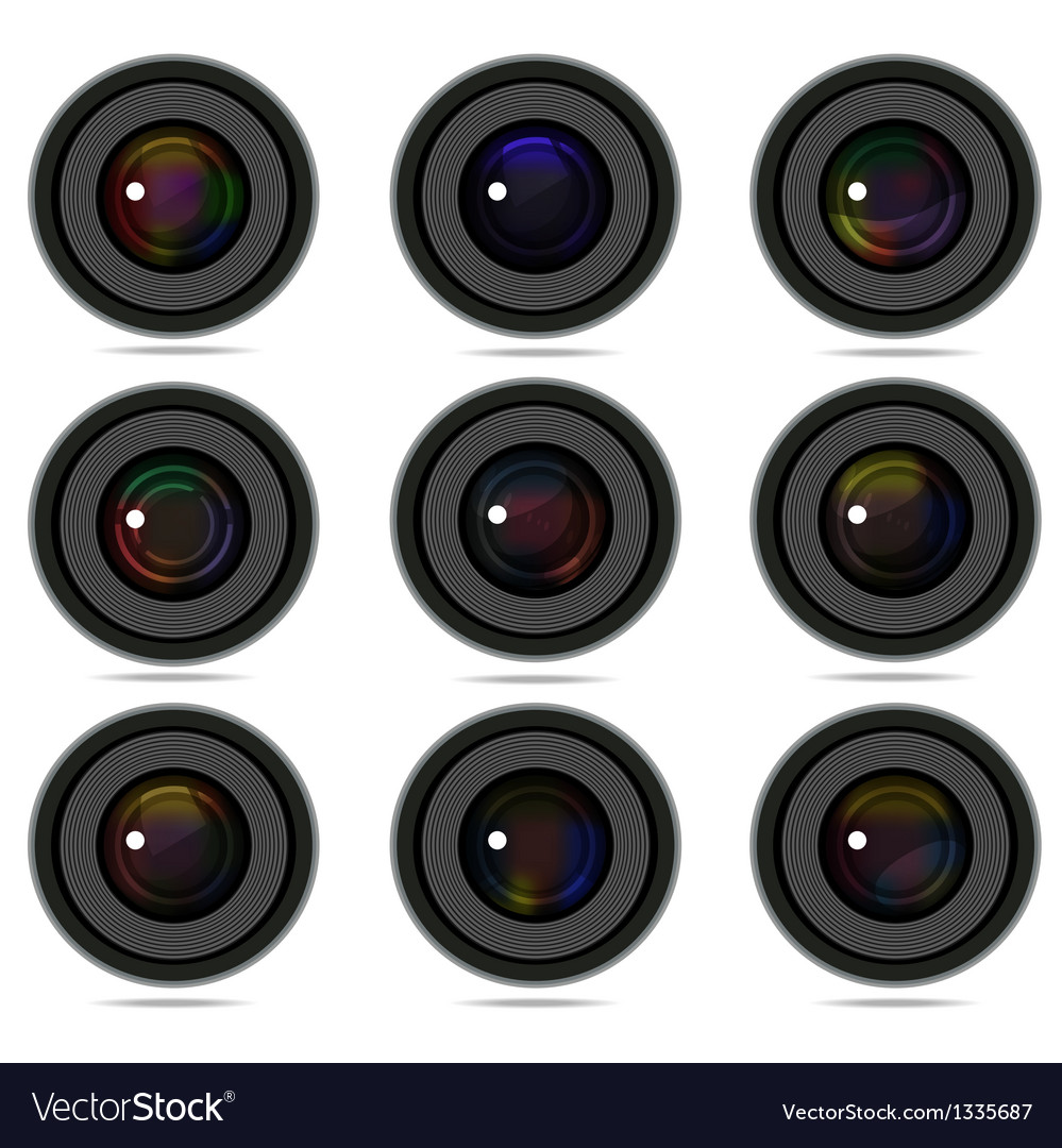 Photography camera lens vector | Price: 1 Credit (USD $1)