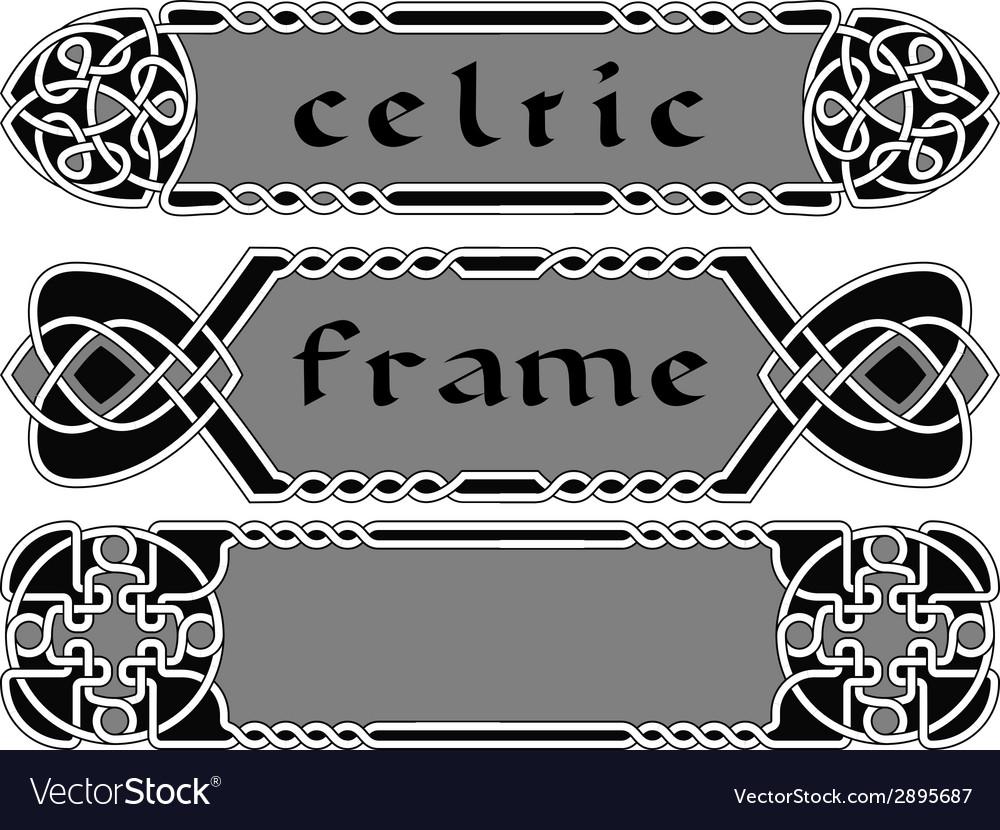 Set celtic frame vector | Price: 1 Credit (USD $1)
