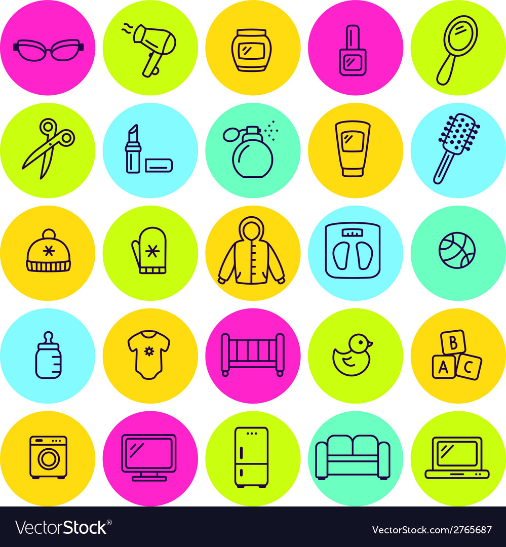 Set of different shop icons vector | Price: 1 Credit (USD $1)