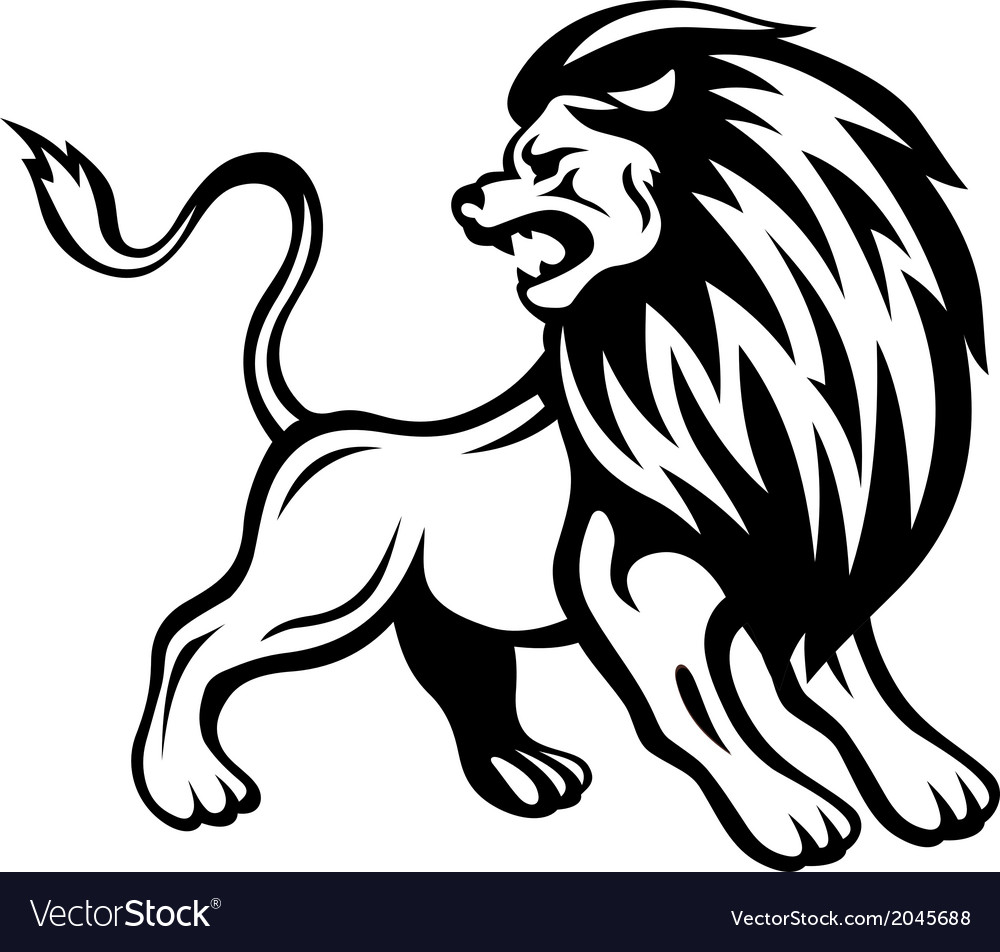Angry lion vector | Price: 1 Credit (USD $1)