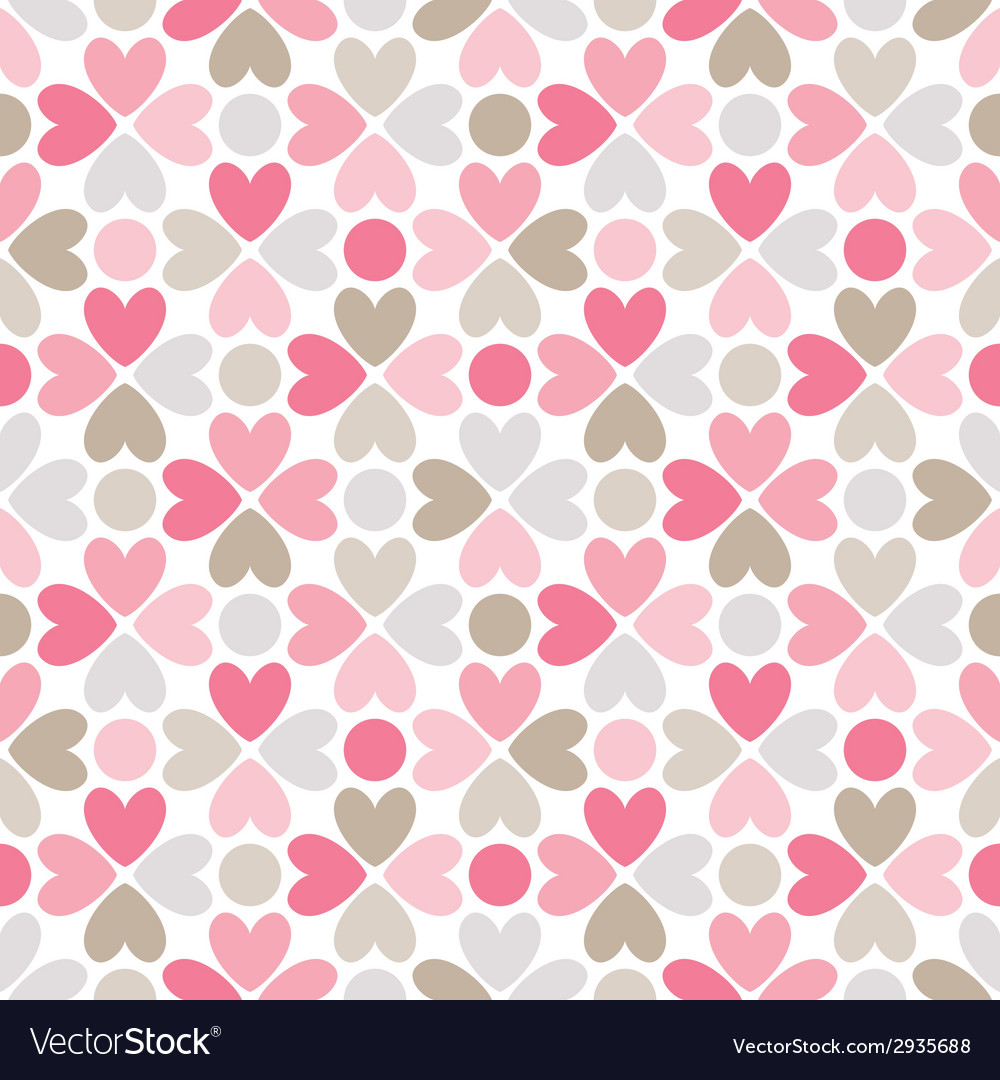 Floral seamless pattern red pink gray brown and vector | Price: 1 Credit (USD $1)
