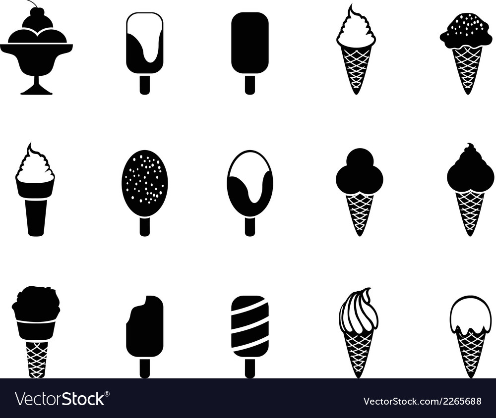 Ice cream icons vector | Price: 1 Credit (USD $1)