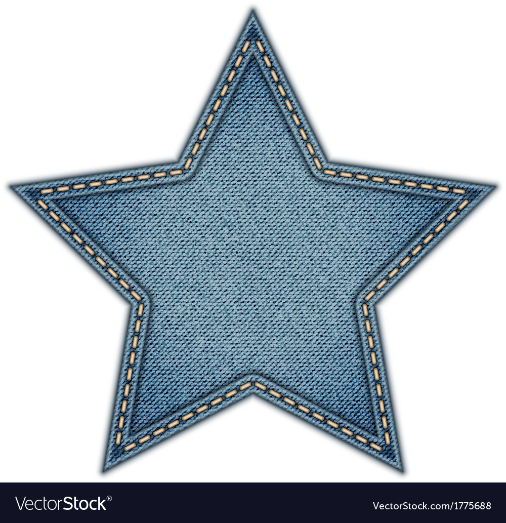 Jeans tag star isolated on white background vector | Price: 1 Credit (USD $1)