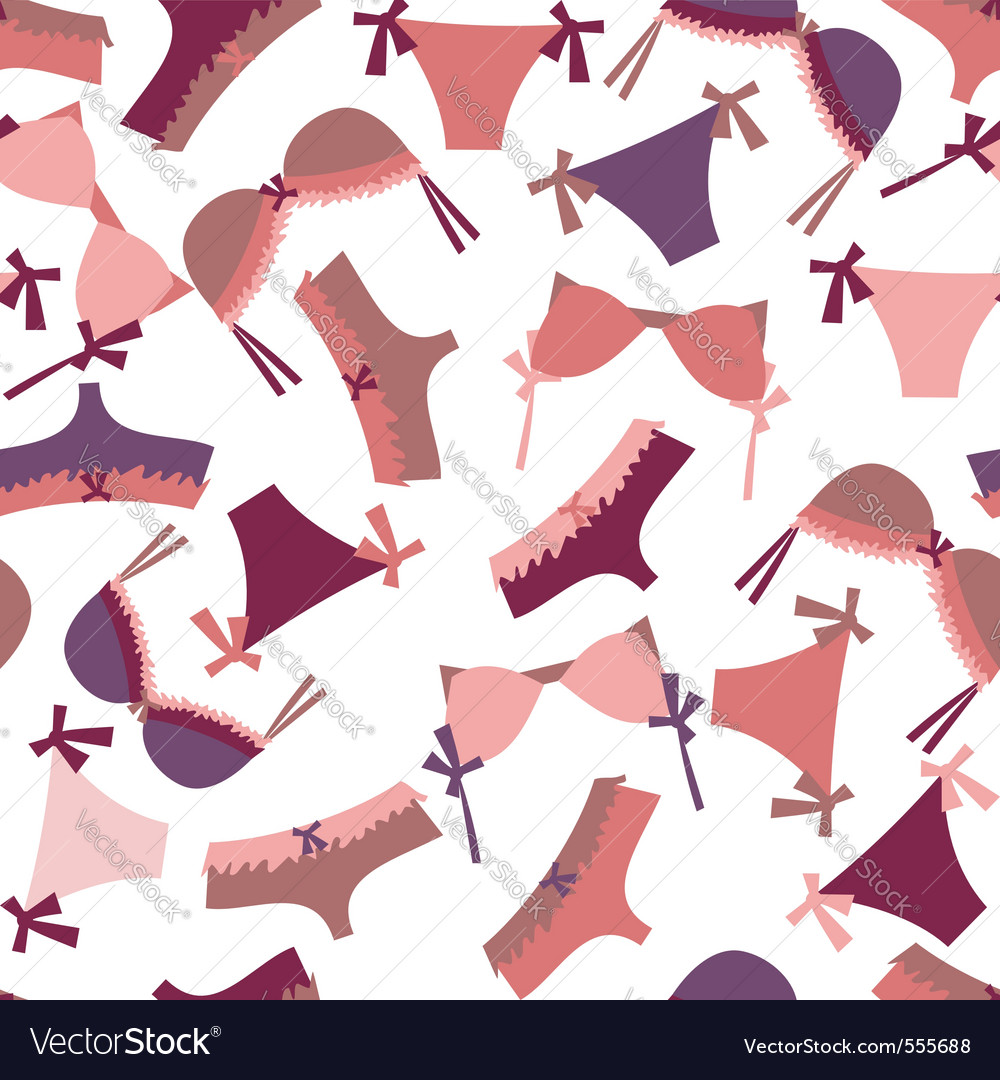 Lingerie pattern vector | Price: 1 Credit (USD $1)