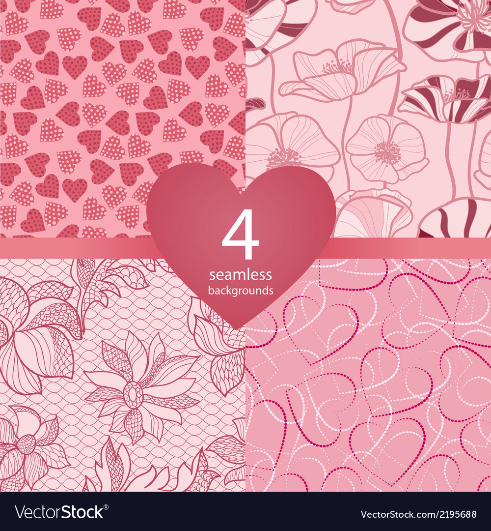 Pink seamless backgrounds vector | Price: 1 Credit (USD $1)