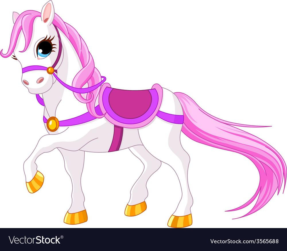 Princess horse vector | Price: 1 Credit (USD $1)