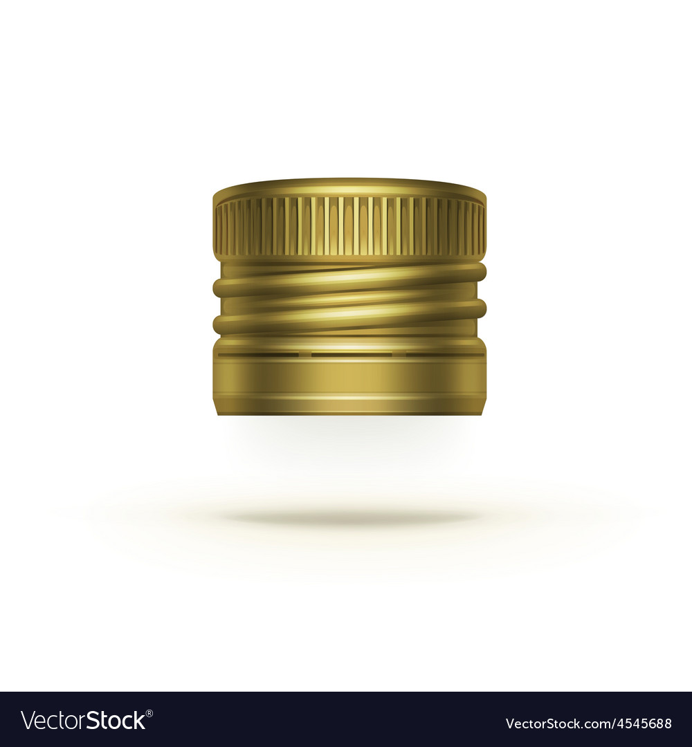 Screw bottle cap isolated on background vector   Price: 1 Credit (USD $1)