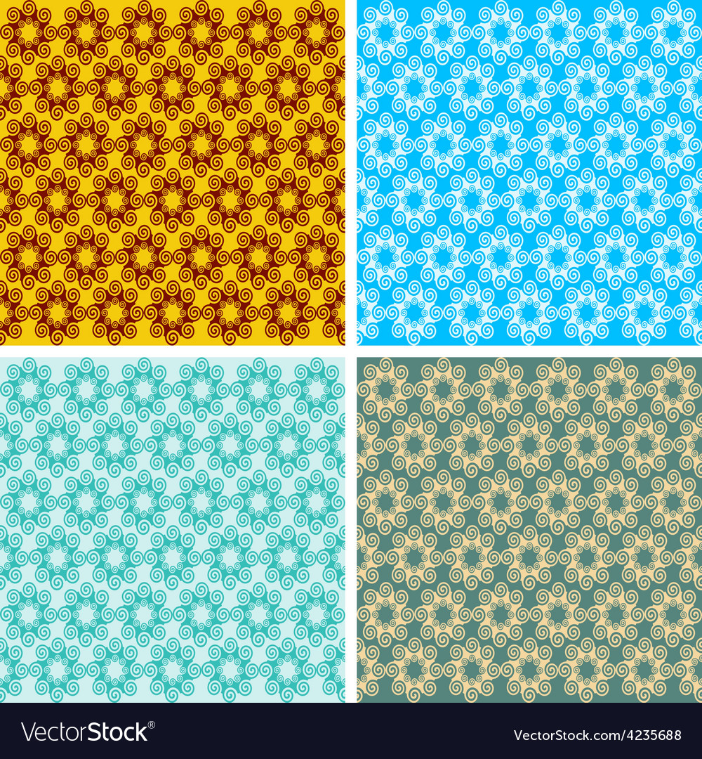 Seamless geometrical wave pattern set vector   Price: 1 Credit (USD $1)