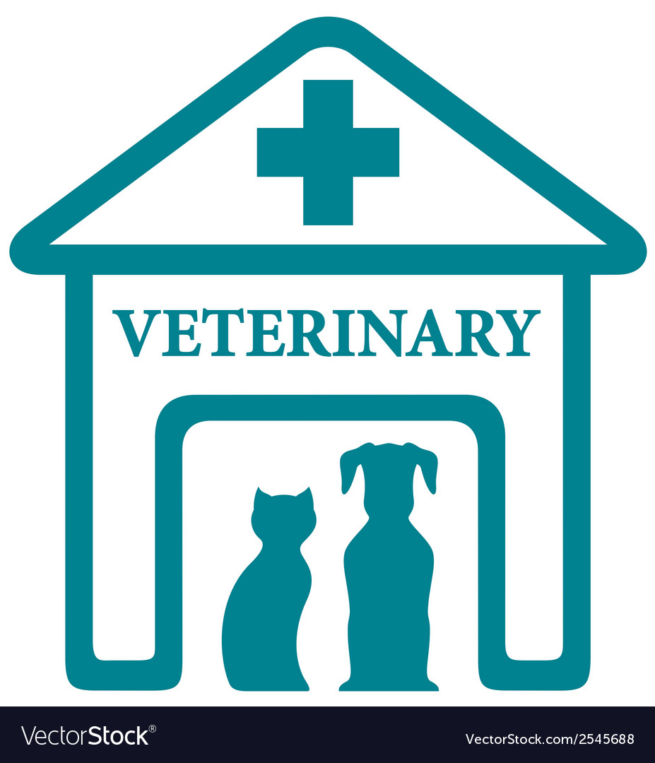 Veterinary icon with home and pets vector | Price: 1 Credit (USD $1)