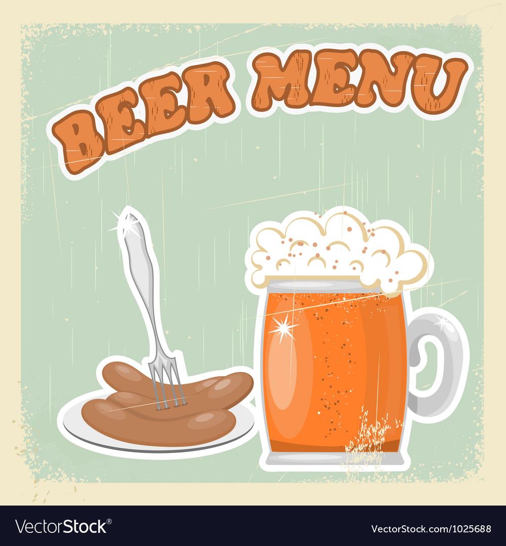 Vintage beer menu vector | Price: 1 Credit (USD $1)