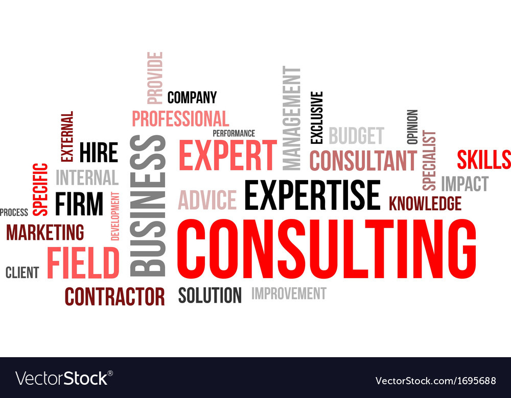 Word cloud consulting vector | Price: 1 Credit (USD $1)