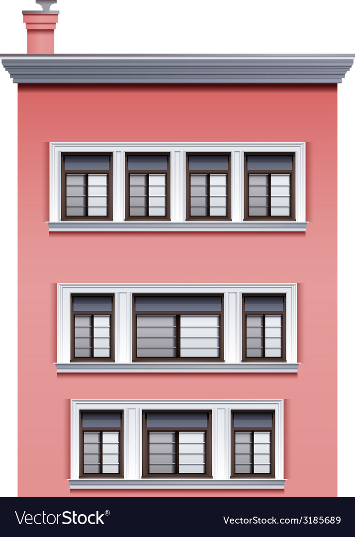A tall pink building vector | Price: 1 Credit (USD $1)