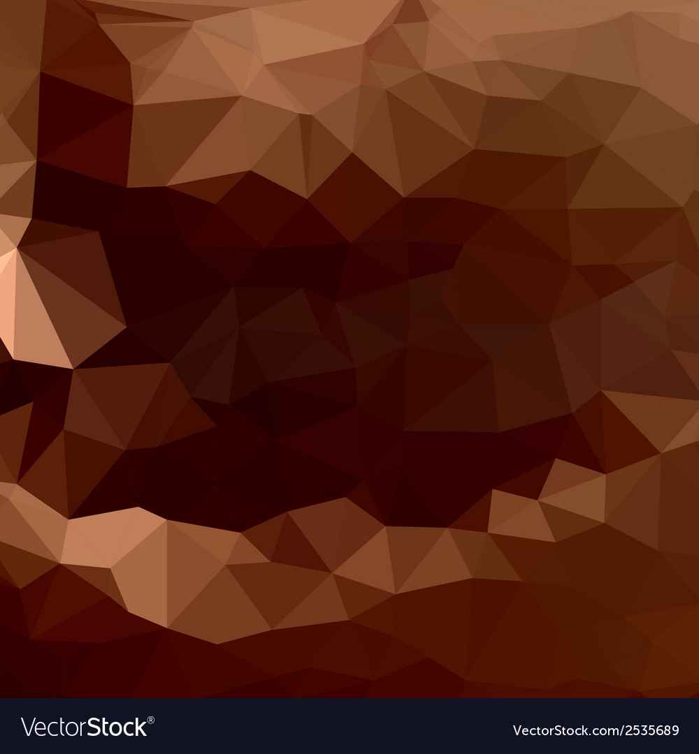 Brown chocolate of abstract triangles vector | Price: 1 Credit (USD $1)