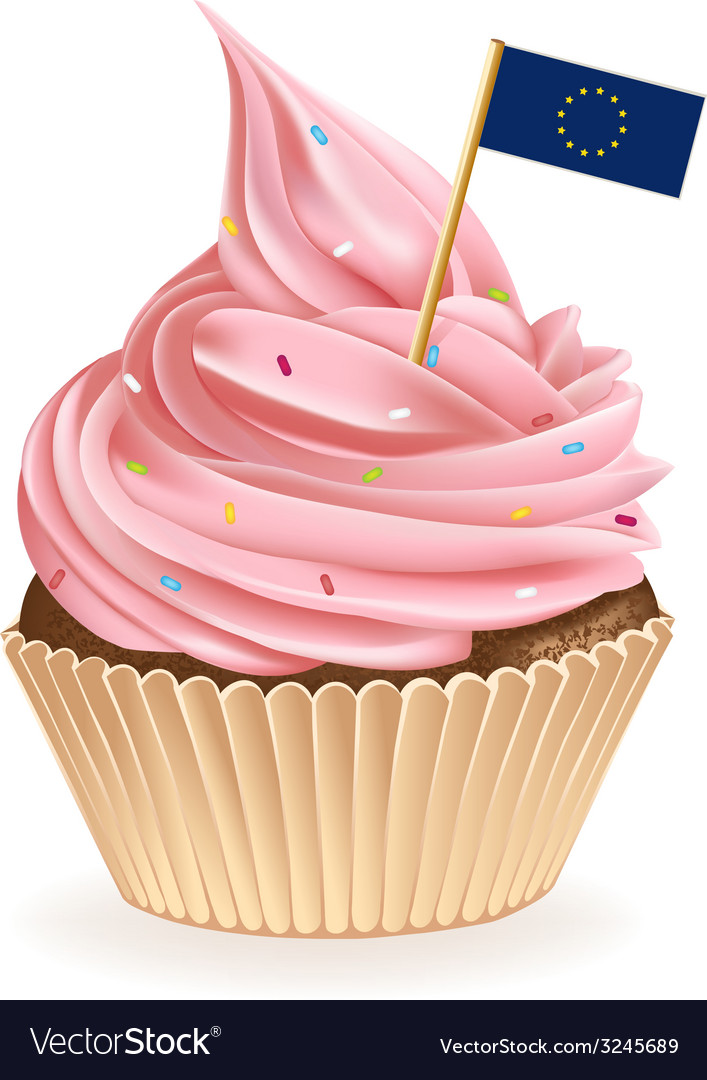 European union cupcake vector | Price: 1 Credit (USD $1)