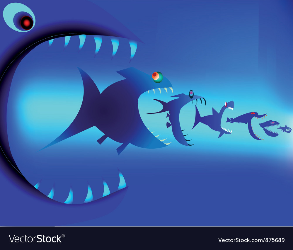 Fish predators vector | Price: 1 Credit (USD $1)