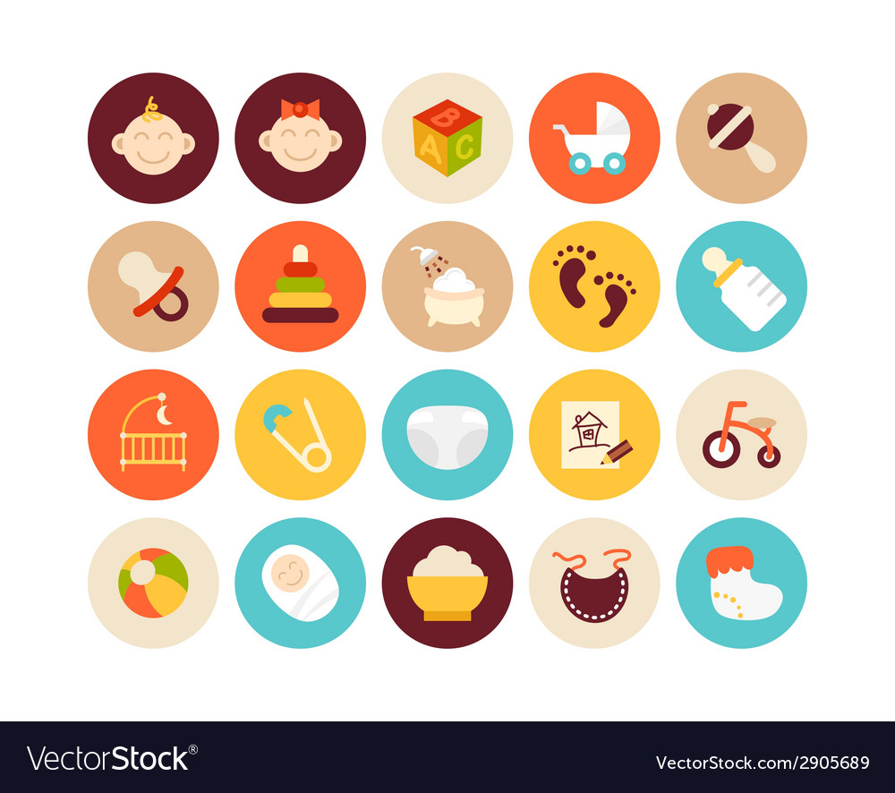 Flat icons set 27 vector | Price: 1 Credit (USD $1)