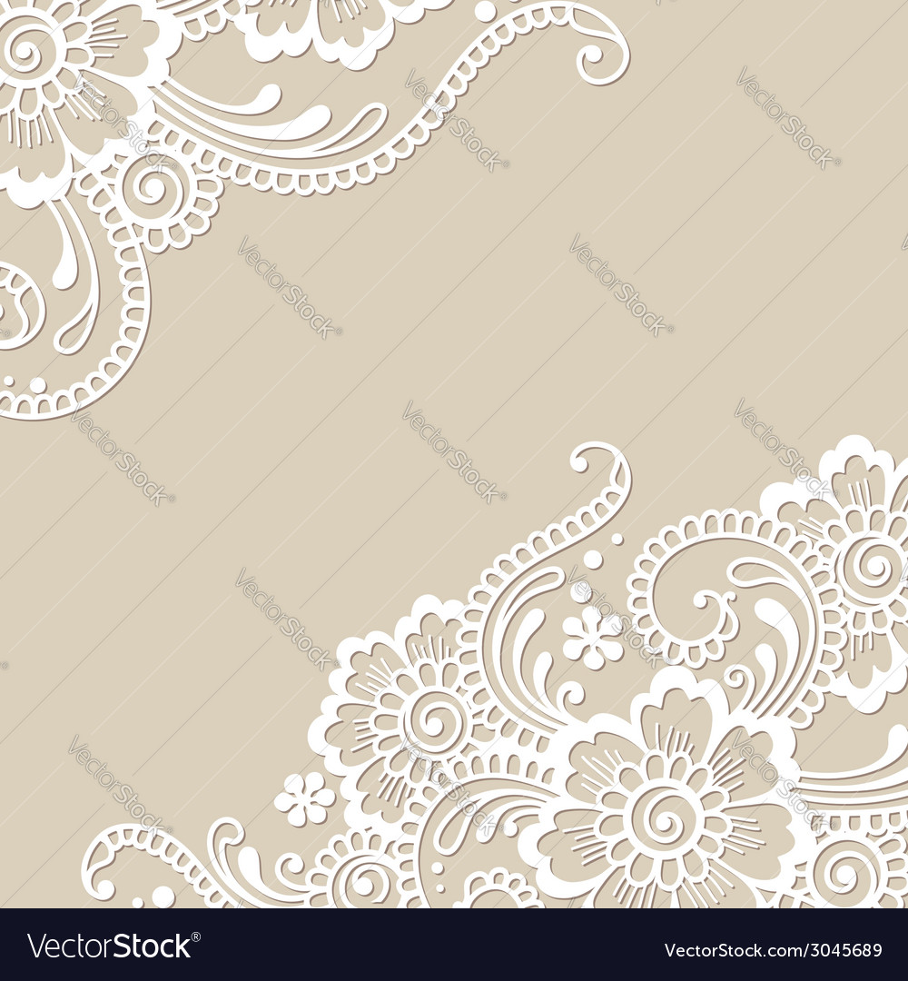 Flower ornament corner vector | Price: 1 Credit (USD $1)