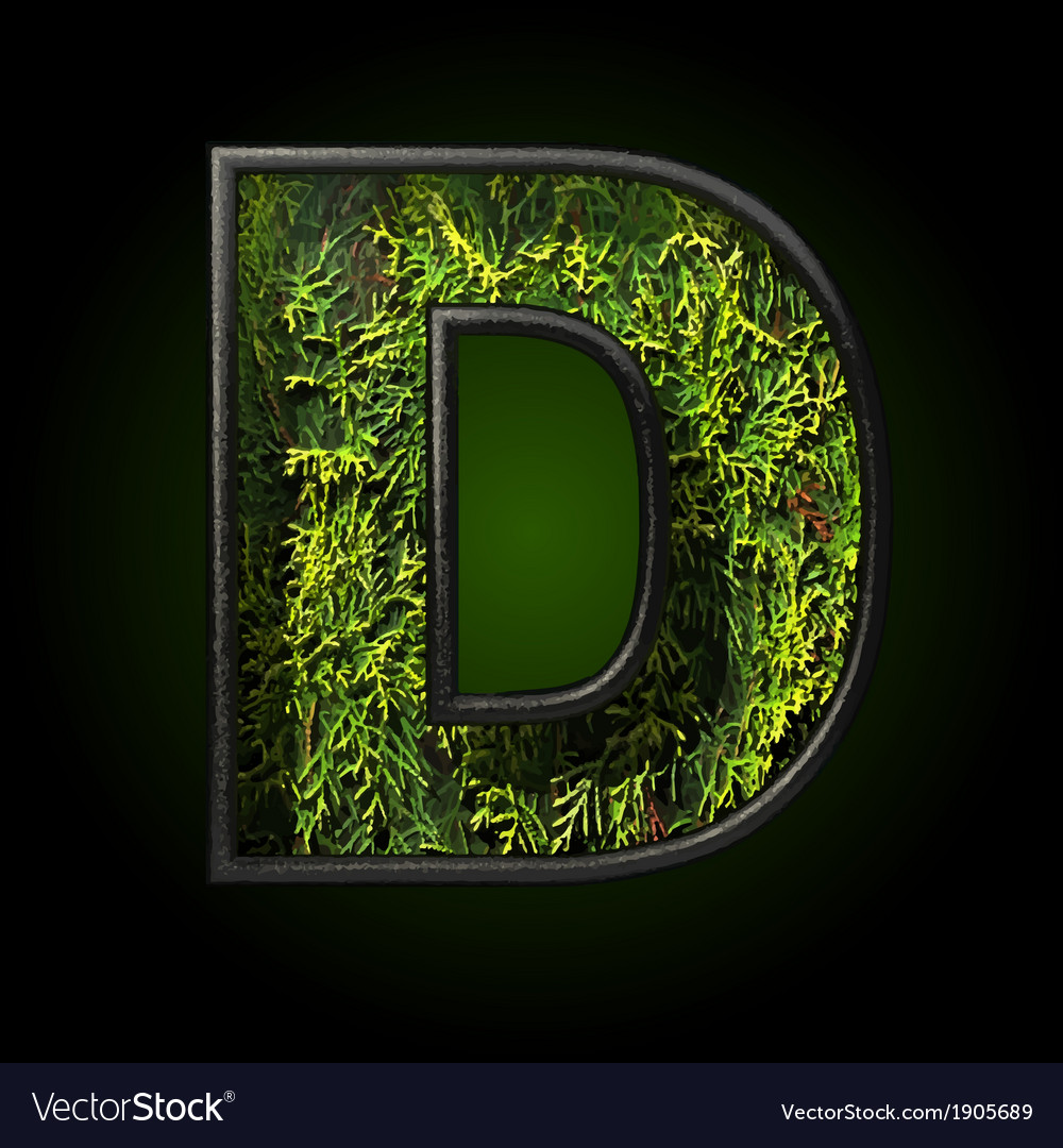 Grass cutted figure d vector | Price: 1 Credit (USD $1)
