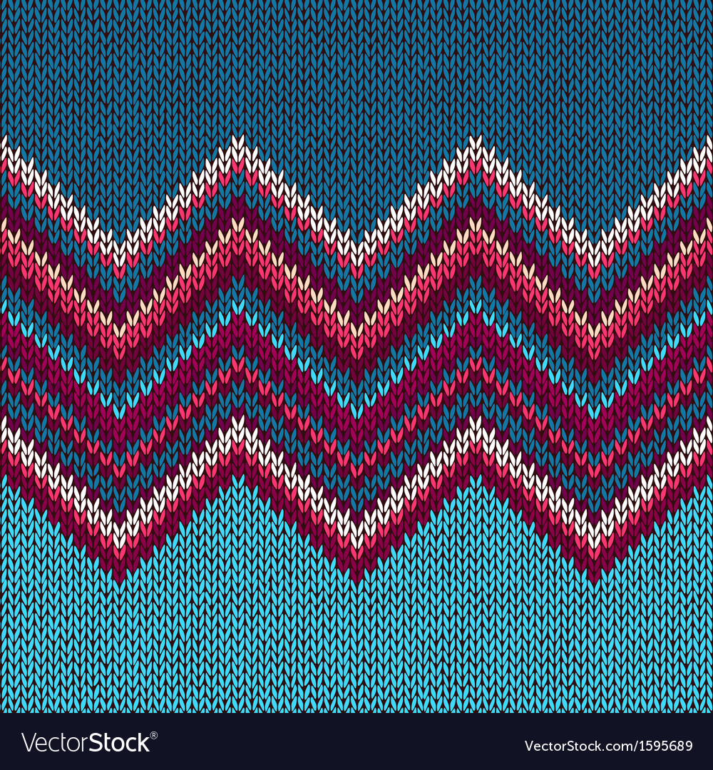 Knitted seamless fabric pattern vector | Price: 1 Credit (USD $1)