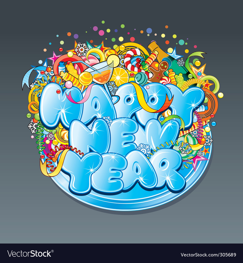 New year tag vector | Price: 3 Credit (USD $3)