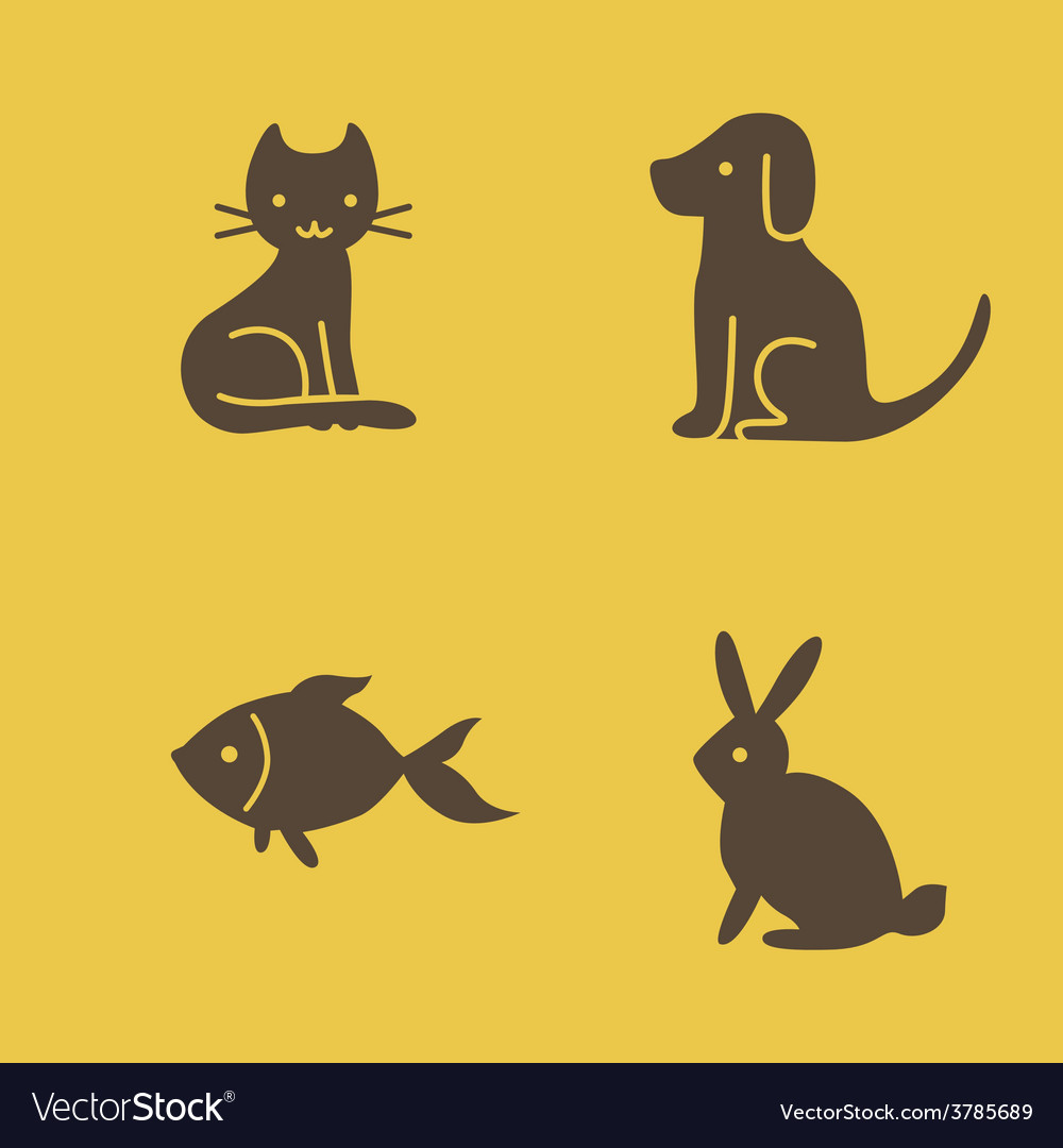 Pets icons vector | Price: 1 Credit (USD $1)