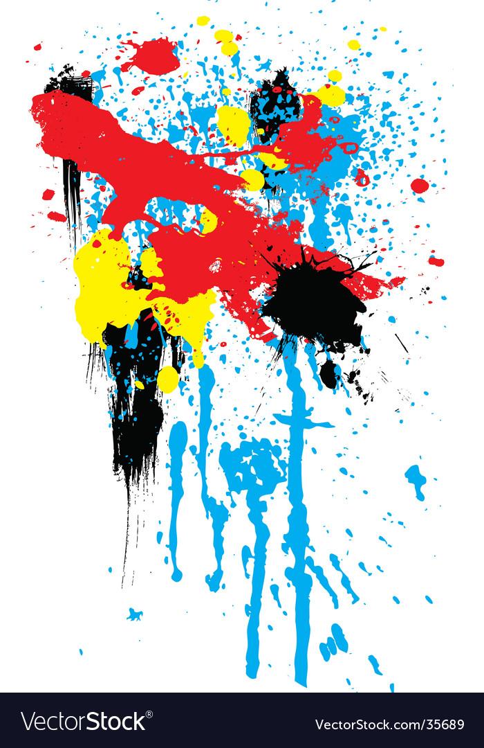 Rainbow splat vector | Price: 1 Credit (USD $1)