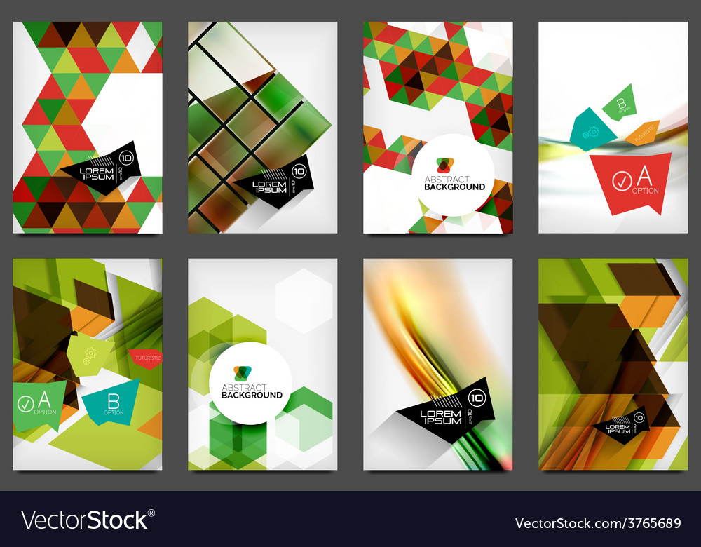 Set of a4 flyers vector | Price: 3 Credit (USD $3)
