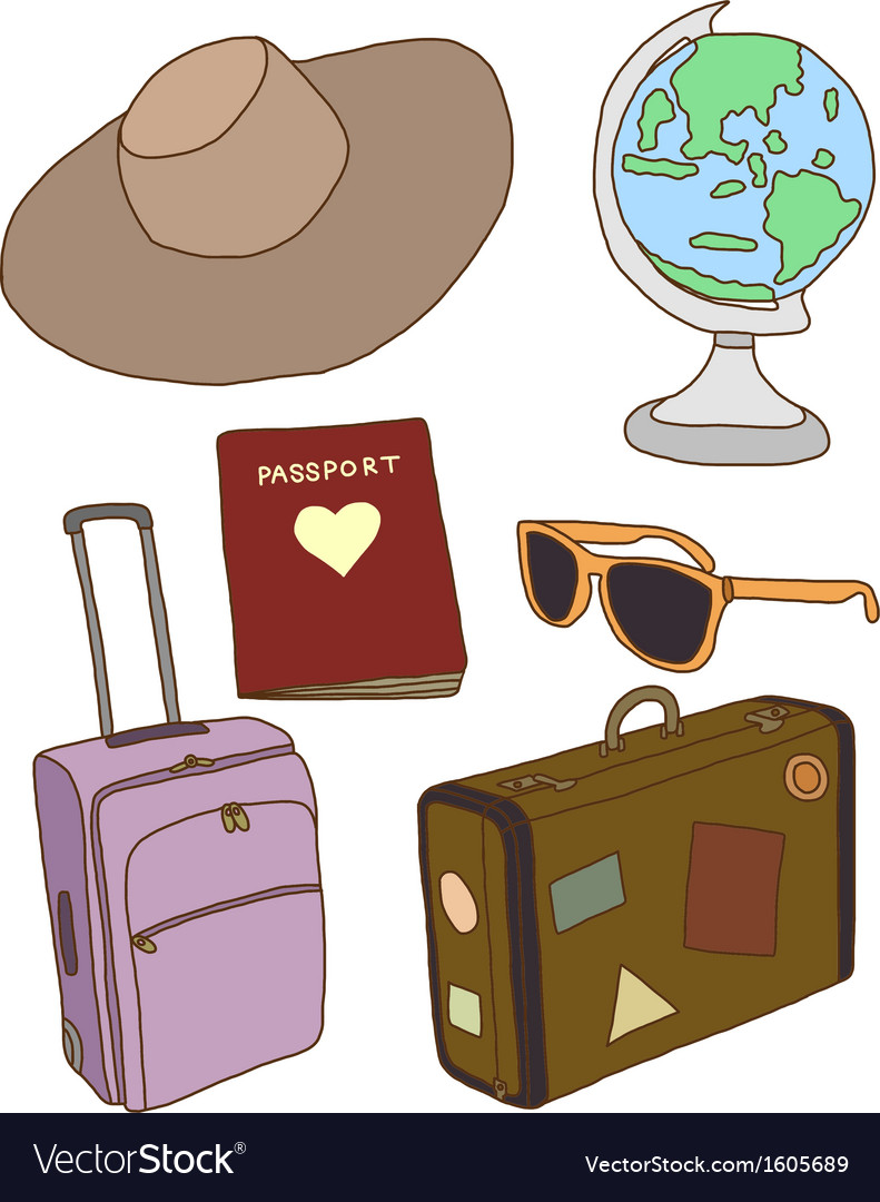 Travel concept items vector | Price: 1 Credit (USD $1)